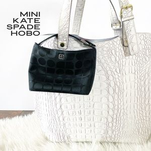 Mini Kate Spade Nylon Monogram Hobo Bag